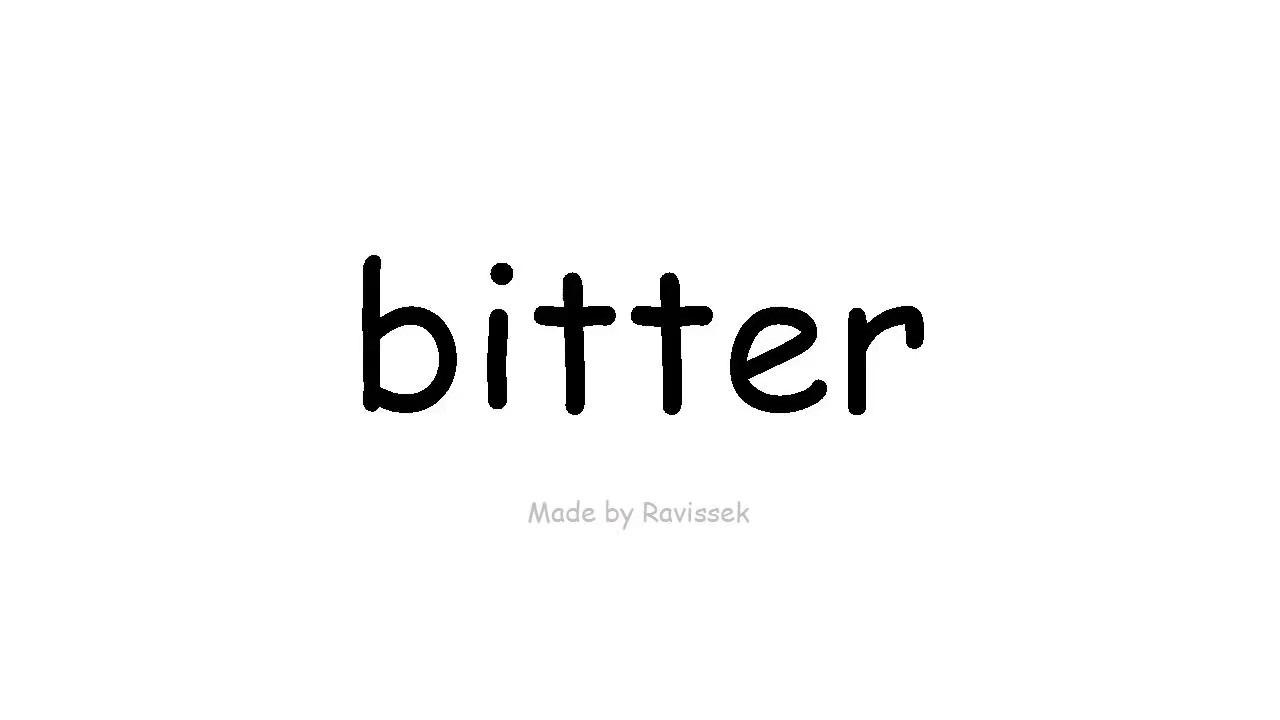 Bitter Englisch
