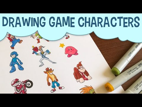 Drawing Video Game Characters With Copic Markers