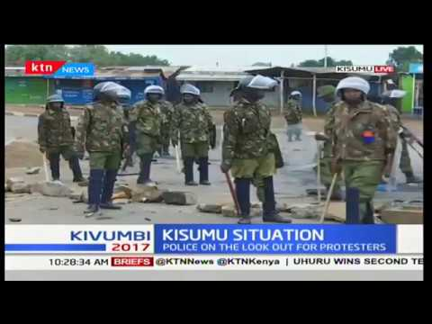 Running battles as police clash with protesters in Kisumu