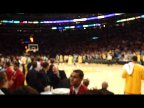 View behind Lakers bench