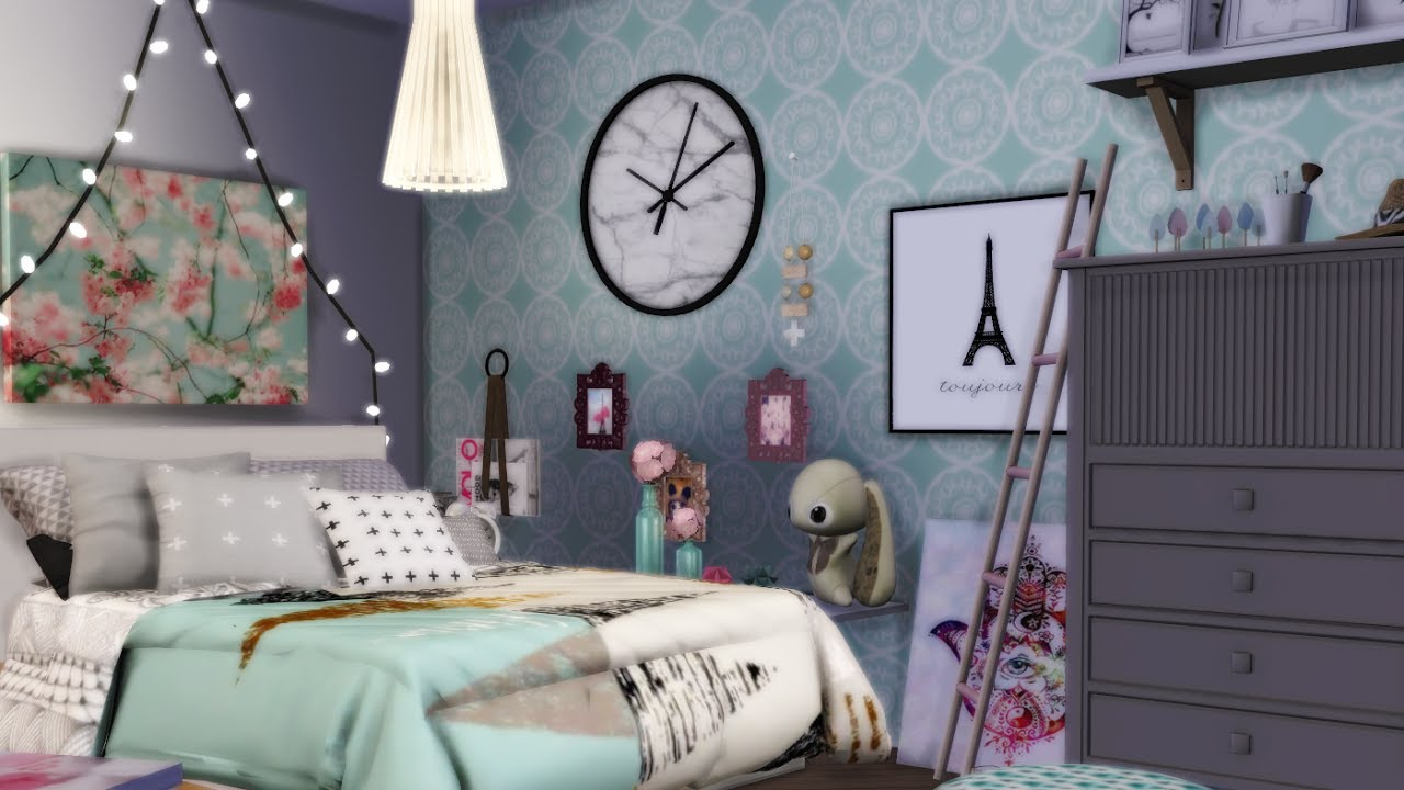 Décoration De Chambre D Ado the sims 4 - dÉco chambre d'ado / teenage bedroom ?
