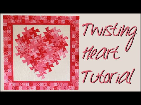 Twisting Pinwheel Heart Wall Hanging Quilting Tutorial