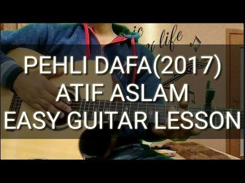 Pehli dafa:atif aslam | easy beginners guitar chords lesson | cover