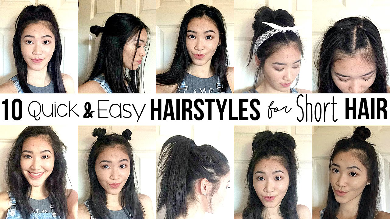 10 Quick Easy Hairstyles For SHORT HAIR How I Style My Short