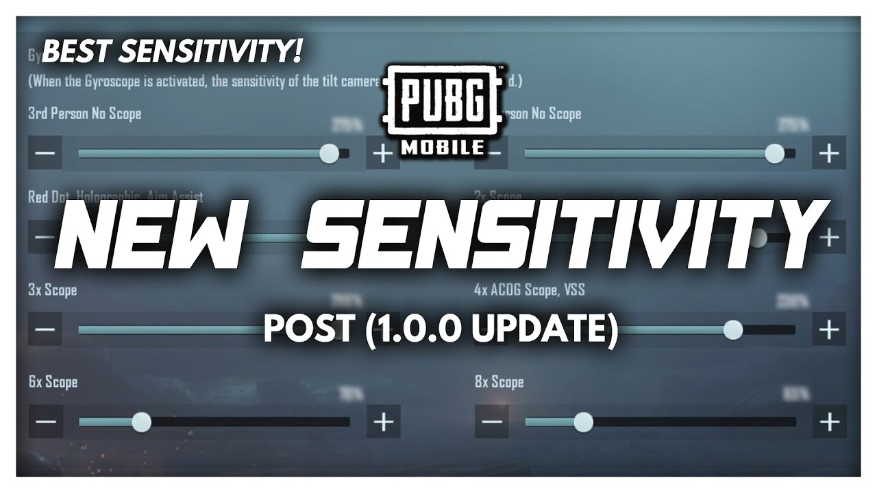 NEW SENSITIVITY SETTINGS (Post 1.0 PUBG Mobile Update)
