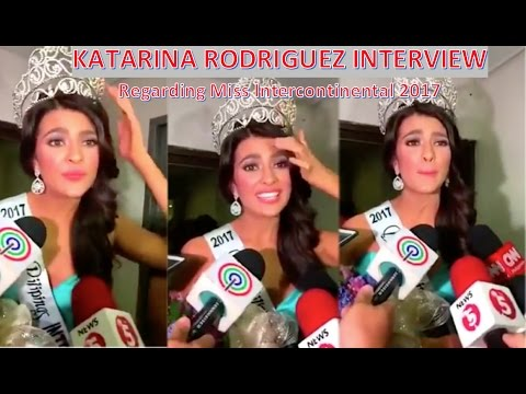 KATARINA RODRIGUEZ | Interview regarding Miss Intercontinental 2017 | FULL STORY (HD)