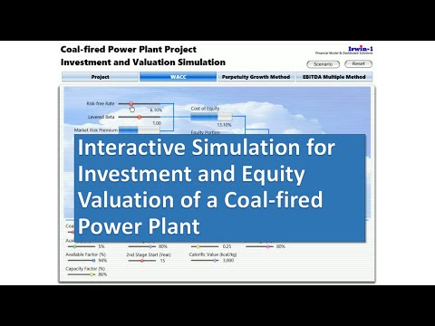 Simulation for Investment and Equity Valuation of a Coal-fired Power Plant