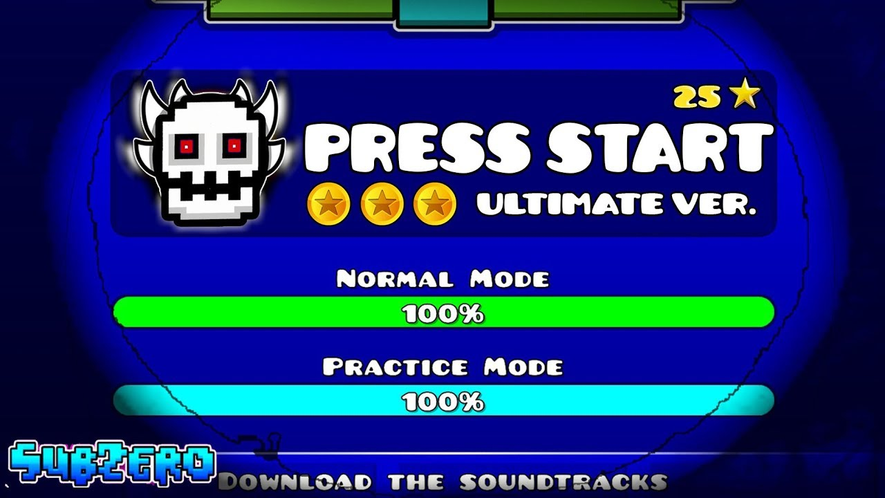 """ULTIMATE PRESS START"" !!! - GEOMETRY DASH 2.11!! - YouTube"