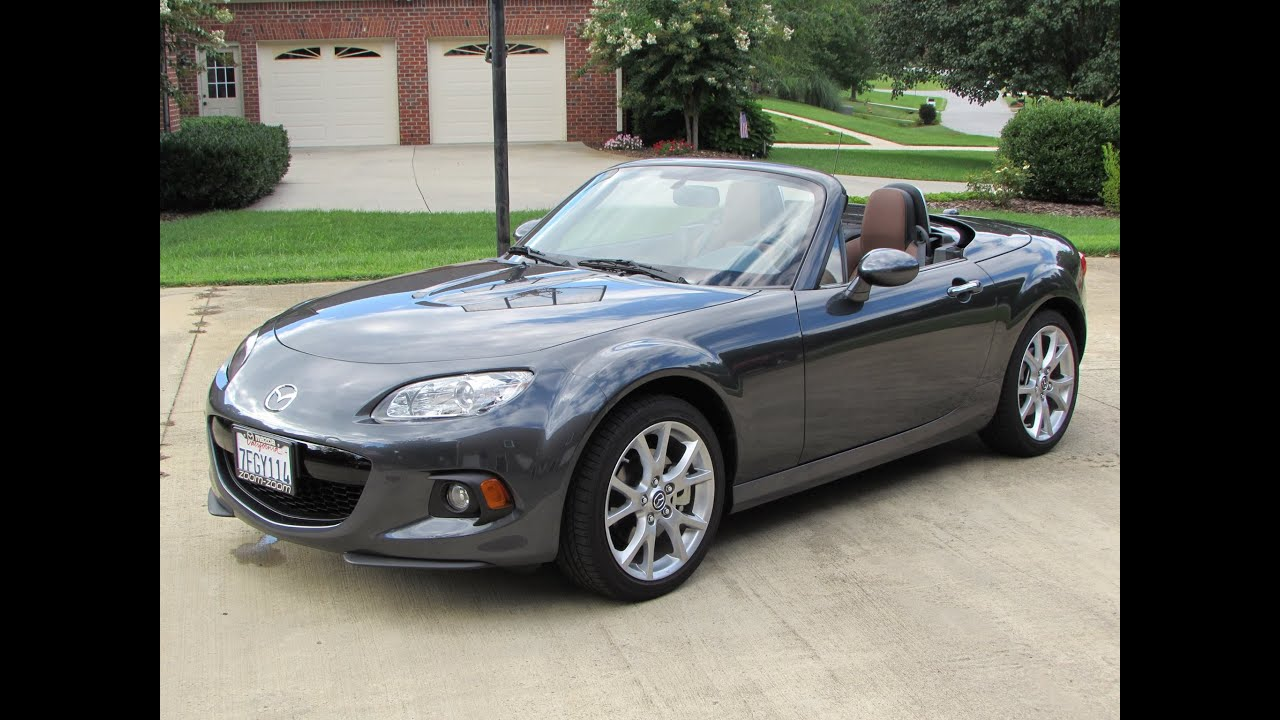 2014 / 2015 Mazda MX 5 Miata Grand Touring Start Up, Exhaust, Test Drive,  And In Depth Review   YouTube