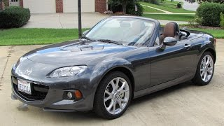 2014 / 2015 Mazda MX-5 Miata Grand Touring Start Up, Exhaust, Test Drive, and In Depth Review