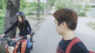 Lần đầu Huy dạy Hương đua mô tô và cái kết bất ngờ | Lan Huong Channel