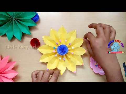 How To Make Easy paper wall hanging   Diy paper flower wall hanging   Wall Decoration ideas