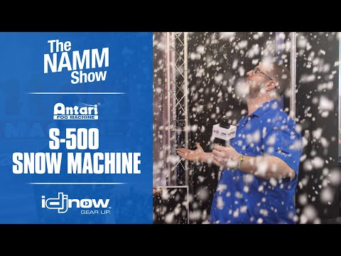 first-look---antari-s-500-silent-snow-machine-|-namm-2020-overview-and-demonstration-with-idjnow