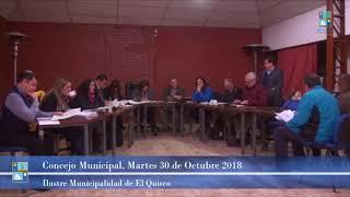 Concejo Municipal Miércoles 17 de Octubre 2018 El Quisco