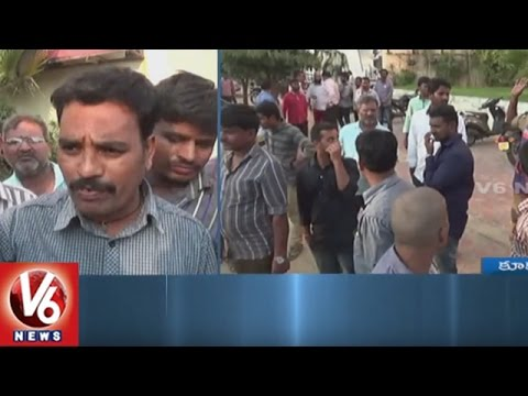 Frustrated Cab Drivers Attack On OLA Cabs Office In Kukatpally | Hyderabad | V6 News