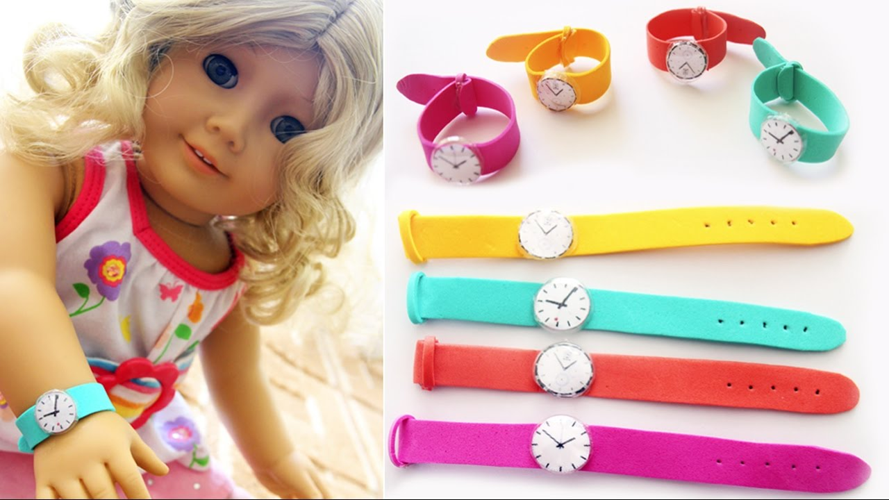 Diy American Girl Doll Wrist Watch Easy Doll Crafts Simplekidscrafts Simplekidscrafts