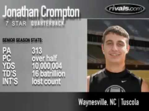 Jonathan Crompton named National Player of the week...high school QB highlights