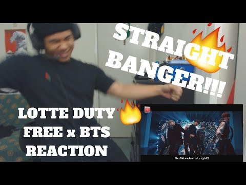 """LOTTE DUTY FREE x BTS M/V """"You're so Beautiful"""" REACTION"""