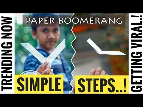 How to make Boomerang Out Of Paper - its simple and Working