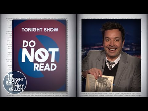 Do Not Read: The Educated Cat | The Tonight Show Starring Jimmy Fallon