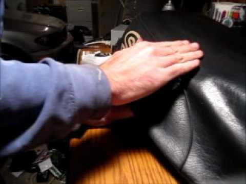 How To Repair A Torn Motorcycle Seat Cover YouTube - Vinyl for motorcycle seat covers