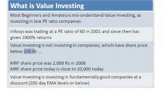 Value Investing Tutorial - India - (Mis-Understood) Concept - bse2nse.com