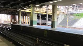 ナイス警笛!JR東海キハ85系 6両 (回送名古屋行き) 金山通過 (警笛付き)