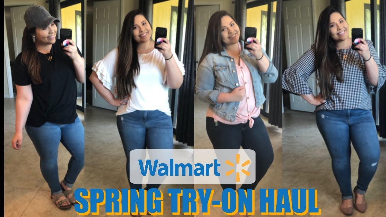 7ce1d546235 WALMART SPRING CLOTHING HAUL AND TRY-ON || CURVY GIRL FRIENDLY ...