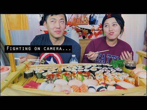 Sushi Boat Challenge Mukbang! ★SUSHI OVERLOADDDD★