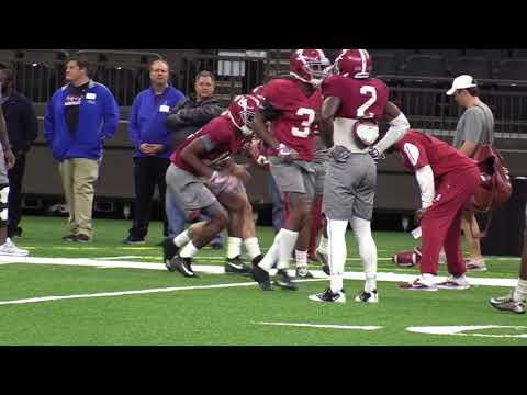 Alabama football practice for Sugar Bowl