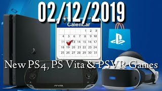 New Ps4, Ps Vr And Ps Vita Games For February 12, 2019