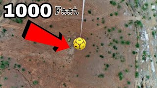 Dropping Football From 1000 Feet Sky - Crazy Experiment With Football
