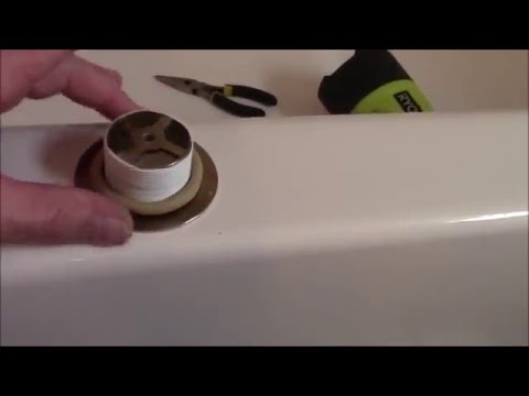 How to repair leaking bathtub drain, DIY fix leaking bathtub drain ...