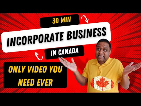Registering A Corporation In Canada Under 30 Minutes   How To Register Business Canada  🔥