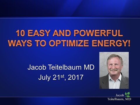 10 Tips to Optimize Energy - Fatigue, Hormones, Candida, Nutrition, Fibromyalgia