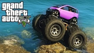 ★ GTA 5 - Monster Smart Car Mod - Mudding & Mountain Climbing - 4x4 Off-Roading (GTA V PC Mods)