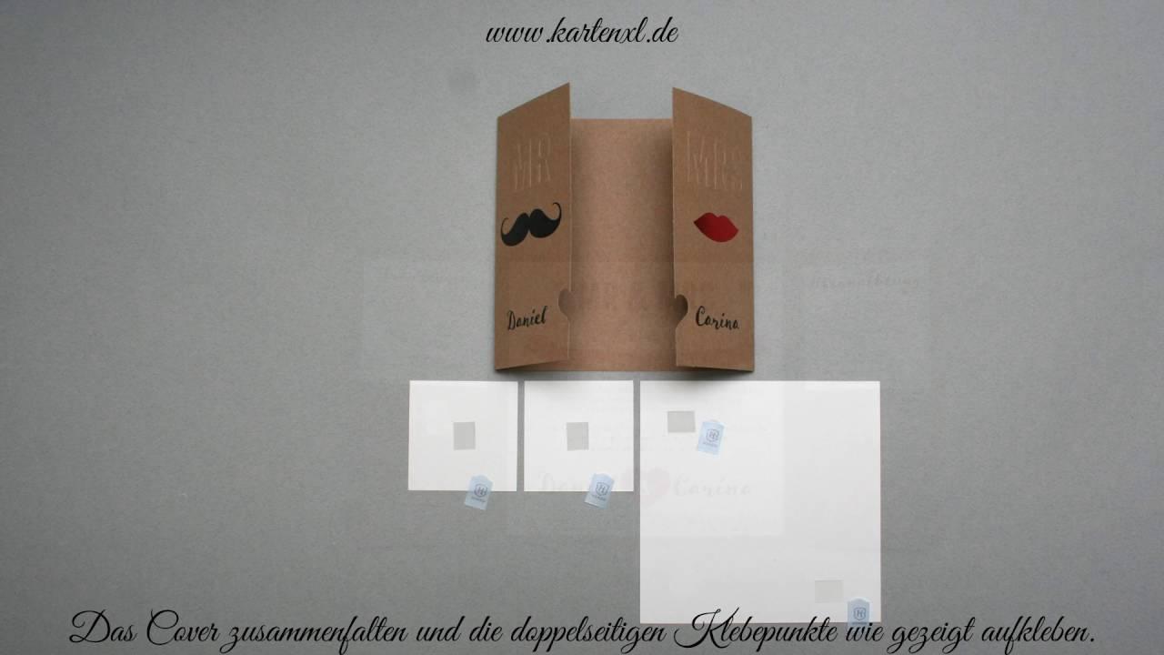 Hochzeits Einladungskarte Belarto 726011 Youtube