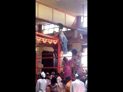Huanted people by ghost at Datta temple Gangapur karnataka India during maha arti.