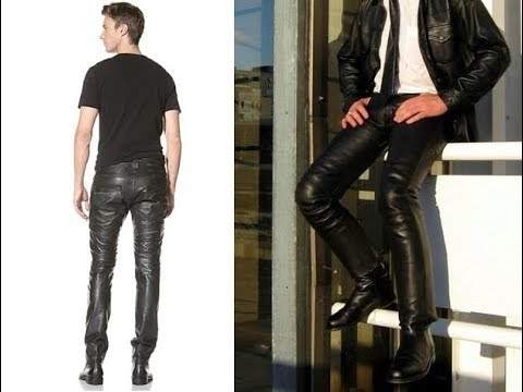 Mens Leather Dress Pants Youtube