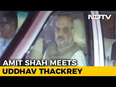 Amit Shah Reaches Uddhav Thackeray's Home In Rare Outreach Effort