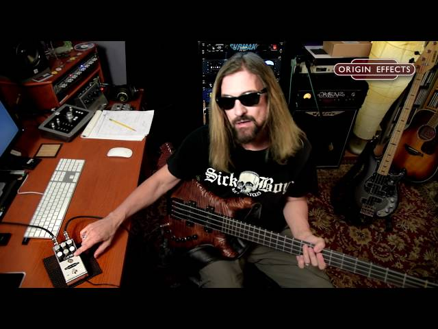 James LoMenzo Demos the Origin Effects Cali76 Compact Bass compressor pedal - Slapping and Popping