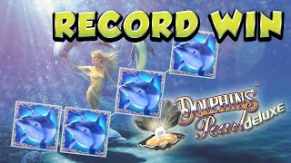 RECORD WIN 4€ bet BIG WIN - Dolphins Pearl HUGE WIN