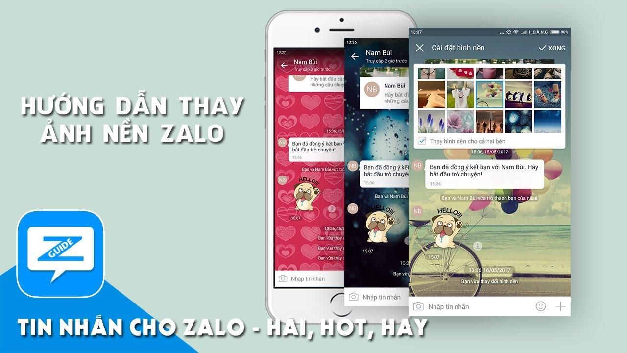 Hướng dẫn Zalo – Đổi hình nền chat zalo