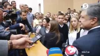 У Порошенко спросили, когда закончится война