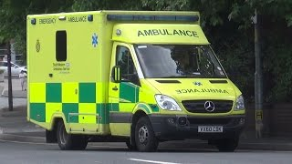 South Western Ambulance Service Mercedes Sprinter heading home from Hereford County Hospital