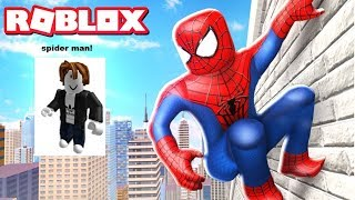 Jogando be Spiderman no ROBLOX!