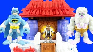 Imaginext Yeti Mountain Takeover + Yeti Trap And Snow Monster + Mr. Freeze Robot Battles Batman