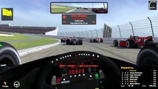 iRacing : Wrecked Half The Field Like an Idiot. (Indycars @ Pocono)
