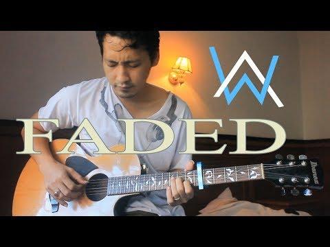 FADED alan walker cover - lyrics - chords - fingerstyle guitar by Java Holig