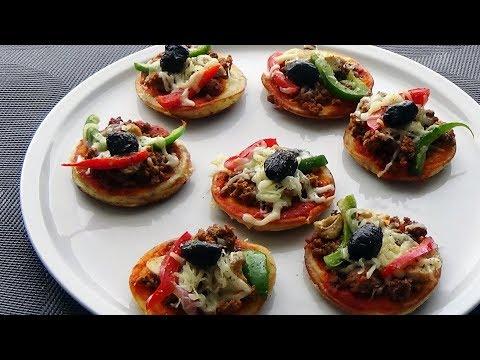 mini-pizza-à-la-viande-hachée-à-la-poêle-(pâte-à-pizza-liquide)